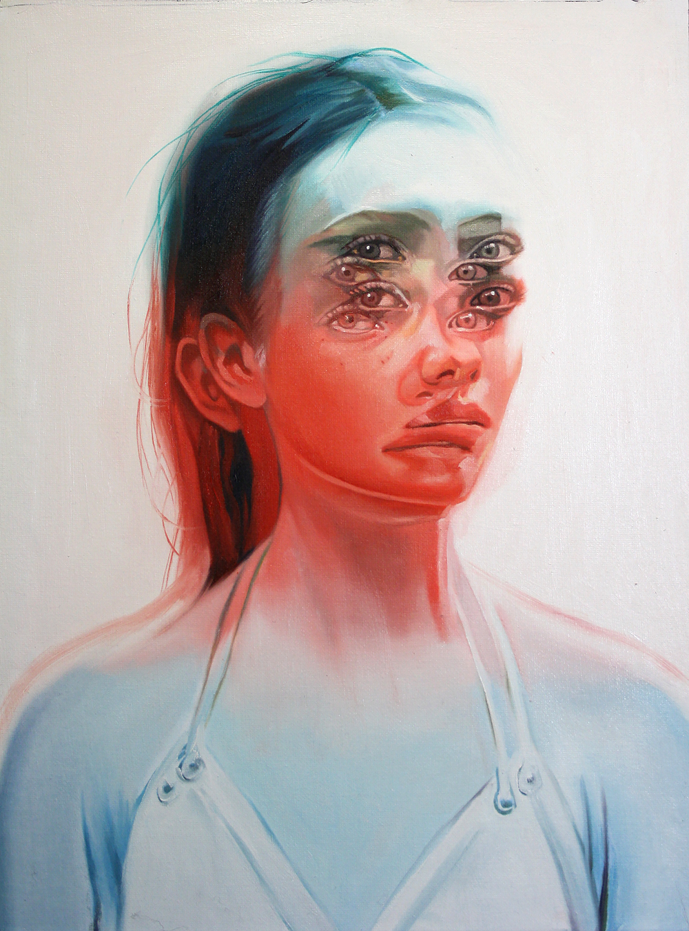 Alex Garant , artist, contemporary art, eyes, women, visual art, scandale project, scandaleproject,