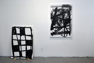 Joshua Evan, SCANDALE PROJECT, art, contemporary art, emerging artist, painting, visual art, creation, studio, black and white, artwork, scandaleproject,